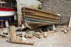 Restauração do barco. Fotos de Stock Royalty Free
