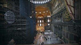 Restauração do Hagia Sophia Turquia, Istambul vídeos de arquivo