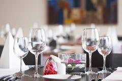 Restauraant stołu ustawianie Fotografia Royalty Free