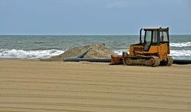 Restauración de la playa en Virginia Beach Imagen de archivo libre de regalías