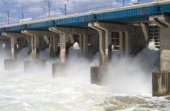 Restauración del agua en central hidroeléctrica Imagen de archivo libre de regalías