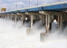 Restauración del agua en central hidroeléctrica Fotos de archivo