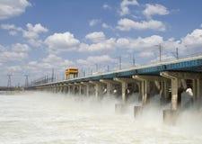 Restauración del agua en central hidroeléctrica Fotografía de archivo libre de regalías