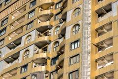 Restauración del centro de ciudad, con los nuevos apartamentos Fotografía de archivo libre de regalías