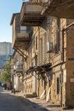 Restauración del centro de ciudad, pero custodia de alguno Imagen de archivo libre de regalías
