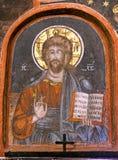 Restauración del icono de Jesús Imagen de archivo libre de regalías
