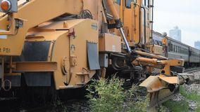 Restauración las pistas de ferrocarril almacen de metraje de vídeo