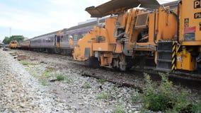 Restauración las pistas de ferrocarril metrajes