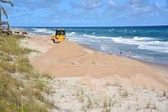 Restauración de la playa Imagen de archivo libre de regalías