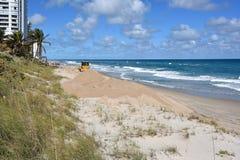 Restauración de la playa Imágenes de archivo libres de regalías