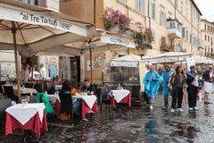 Restauracja Ai Tre Tartufi Navona Rzym Zdjęcie Royalty Free