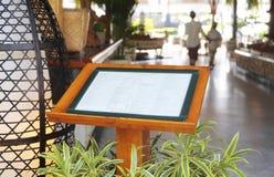 Restauracja menu na ulicie Fotografia Stock