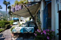 Restauracja na Isola Bella, Lago Maggiore, Włochy Zdjęcie Stock