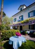 Restauracja na Isola Bella, Lago Maggiore, Włochy Fotografia Royalty Free