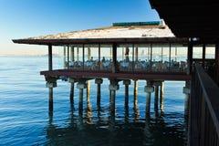 Restauracja na palowaniach nad San Fransisco zatoką Fotografia Royalty Free
