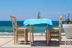 Restauracja na plaży Obrazy Royalty Free