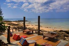 Restauracja na plaży, Phra Ae plaża, Ko Lanta, Tajlandia Fotografia Stock
