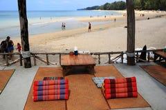 Restauracja na plaży, Phra Ae plaża, Ko Lanta, Tajlandia Zdjęcia Royalty Free