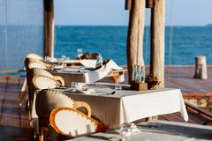 Restauracja outdoors obraz stock