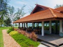 restauracja plażowa fotografia stock
