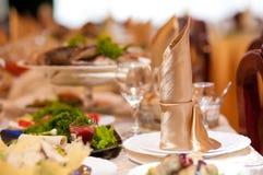restauracja służyć stół Zdjęcia Stock