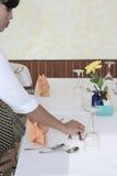 restauracja sposobowy tabeli Zdjęcie Royalty Free