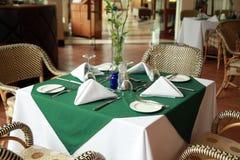 restauracja stół zdjęcie stock