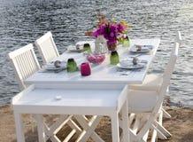restauracja stół Fotografia Royalty Free
