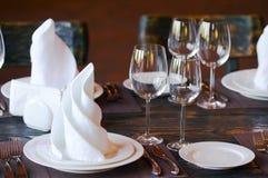 restauracja stół Fotografia Stock