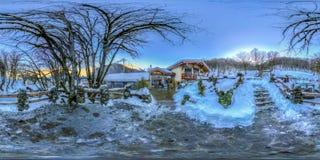 Restauracja w górach Sochi Krasnaya Polyana Rosa Khutor zdjęcie stock