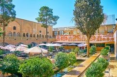 Restauracja w historycznym dworze w Julfa, Isfahan, Iran Zdjęcie Royalty Free