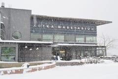 Restauracja w Kotce przy zimą Fotografia Royalty Free