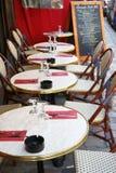 Restauracja w Montmartre Paryż Francja Obrazy Royalty Free