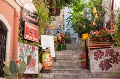 Restauracja w Taormina zdjęcie royalty free