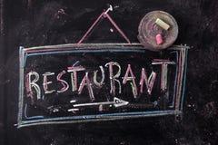 Restauracja znak Fotografia Stock