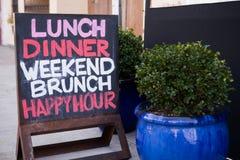 Restauracja znak na chodniczku zdjęcia royalty free