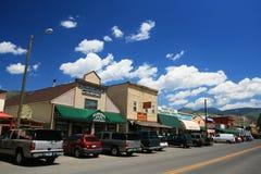 restauracje i prezentów sklepy blisko Yellowstone wejścia fotografia royalty free