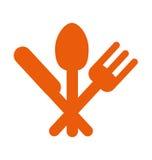 restauracyjna lokaci sygnalizaci drogowa informaci ikona Zdjęcia Stock