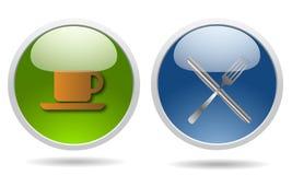 restauracyjne glansowane ikony Obraz Stock