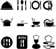 restauracyjne ikony Obrazy Stock