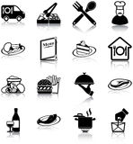 Restauracyjne ikony royalty ilustracja