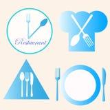Restauracyjni logowie Obrazy Royalty Free