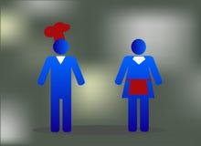 Restauracyjni ludzie błękitni Zdjęcie Royalty Free