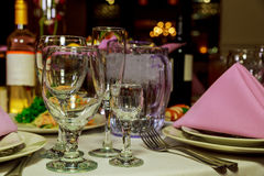 Restauracyjni mebli stoły Obraz Royalty Free