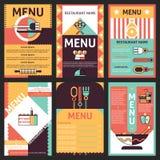 Restauracyjni menu projekty ilustracja wektor