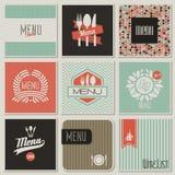 Restauracyjni menu projekty. Wektorowa ilustracja. Fotografia Royalty Free