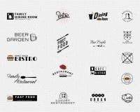 Restauracyjni odznaka logowie, etykietki dla żadny i używają ilustracja wektor