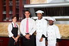 restauracyjni pracownicy zdjęcie royalty free