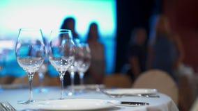 restauracyjni puści szkła zbiory wideo