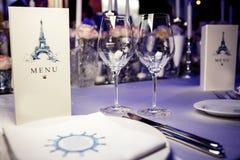 restauracyjni puści szkła Fotografia Stock